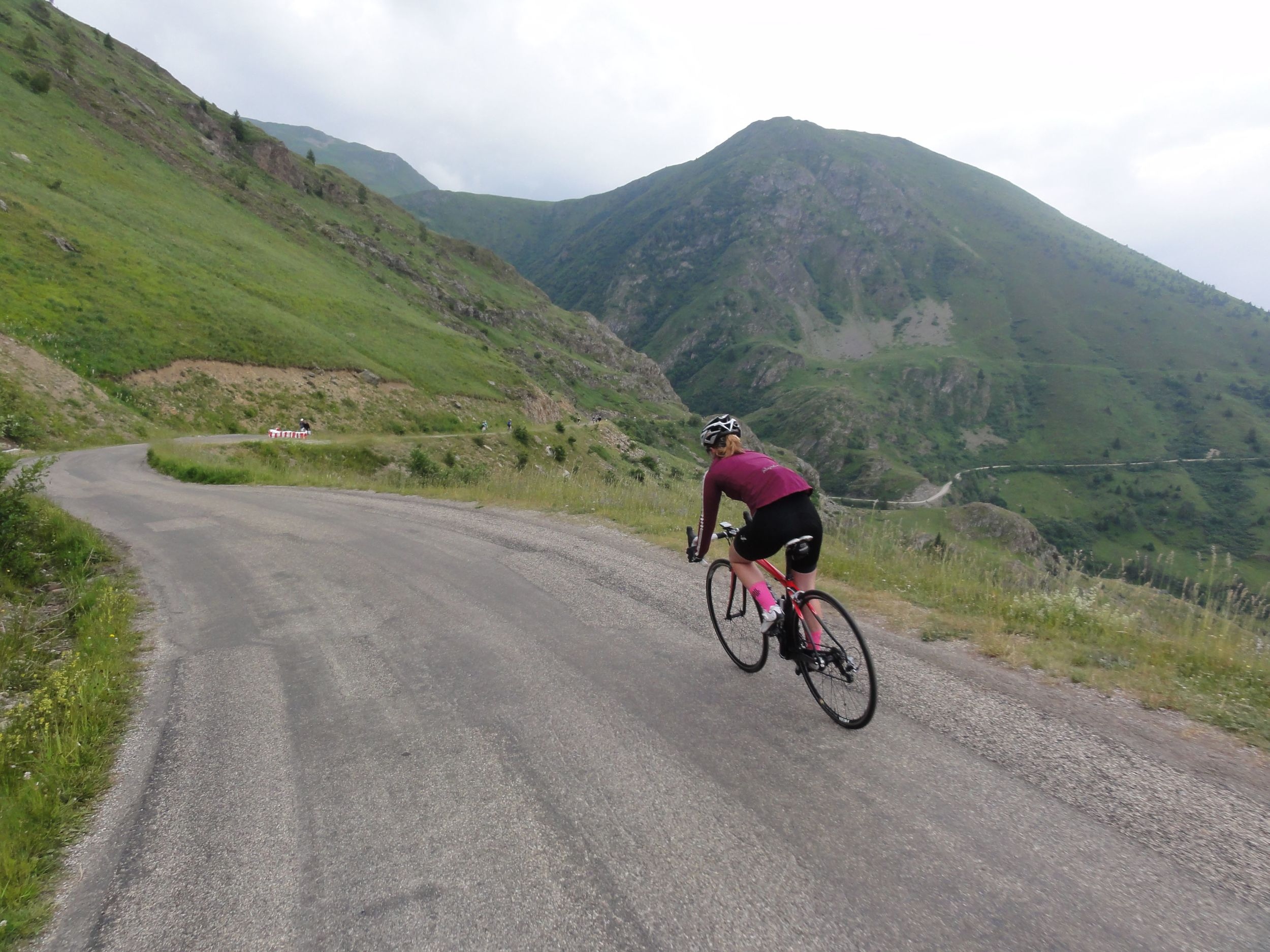 The balcony road from Alpe-d'Huez to the Col de Sarenne was breathtaking!