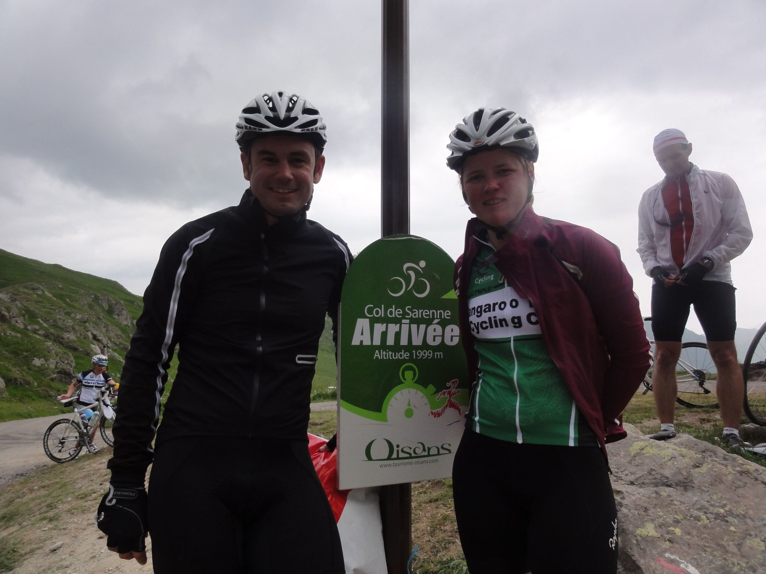 Claire and I summit Col de Sarenne, what a ride!