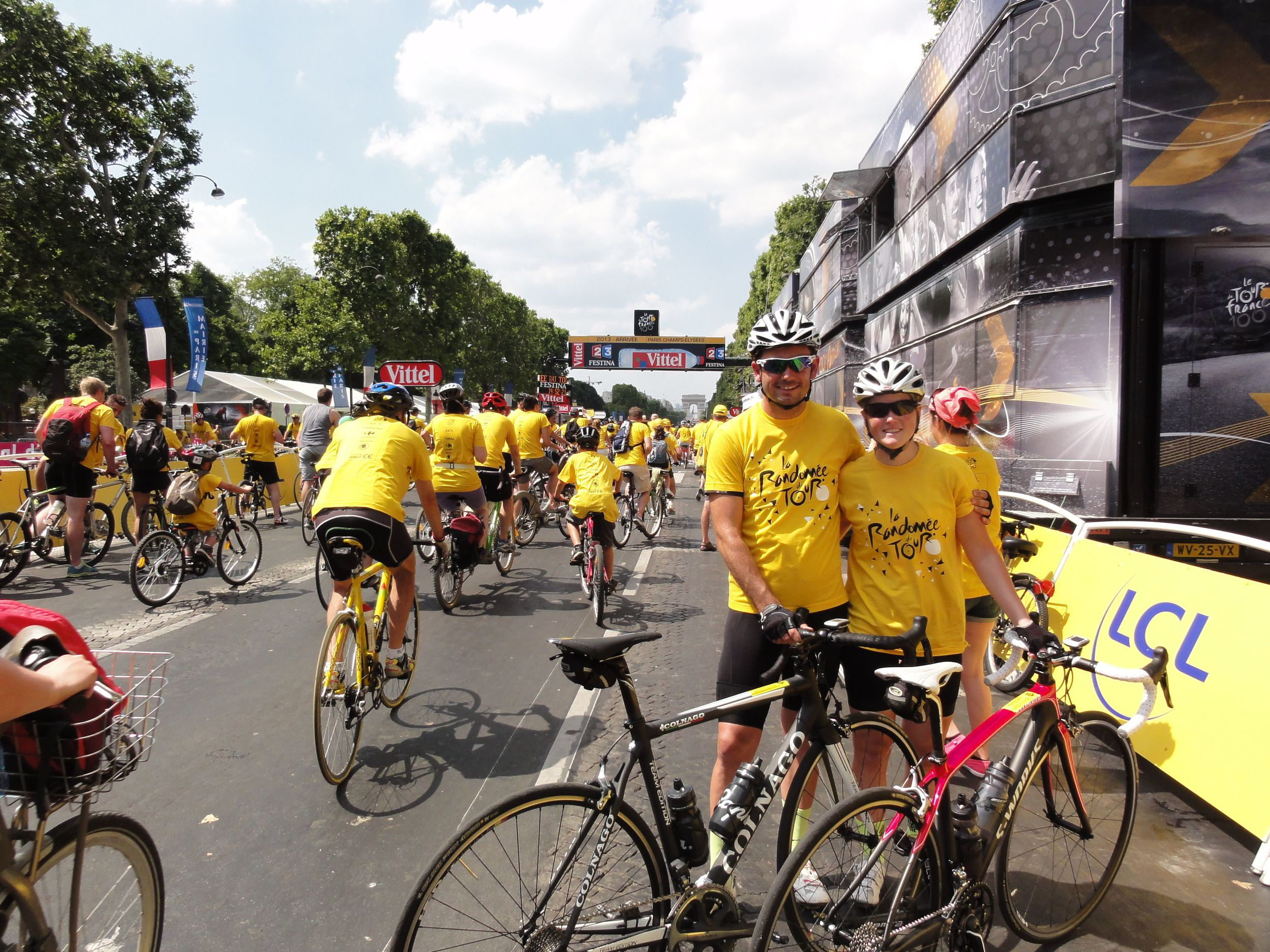 The finish line of the 100th Tour de France - a symbolic end to what had been an incredible 5 weeks in Europe!