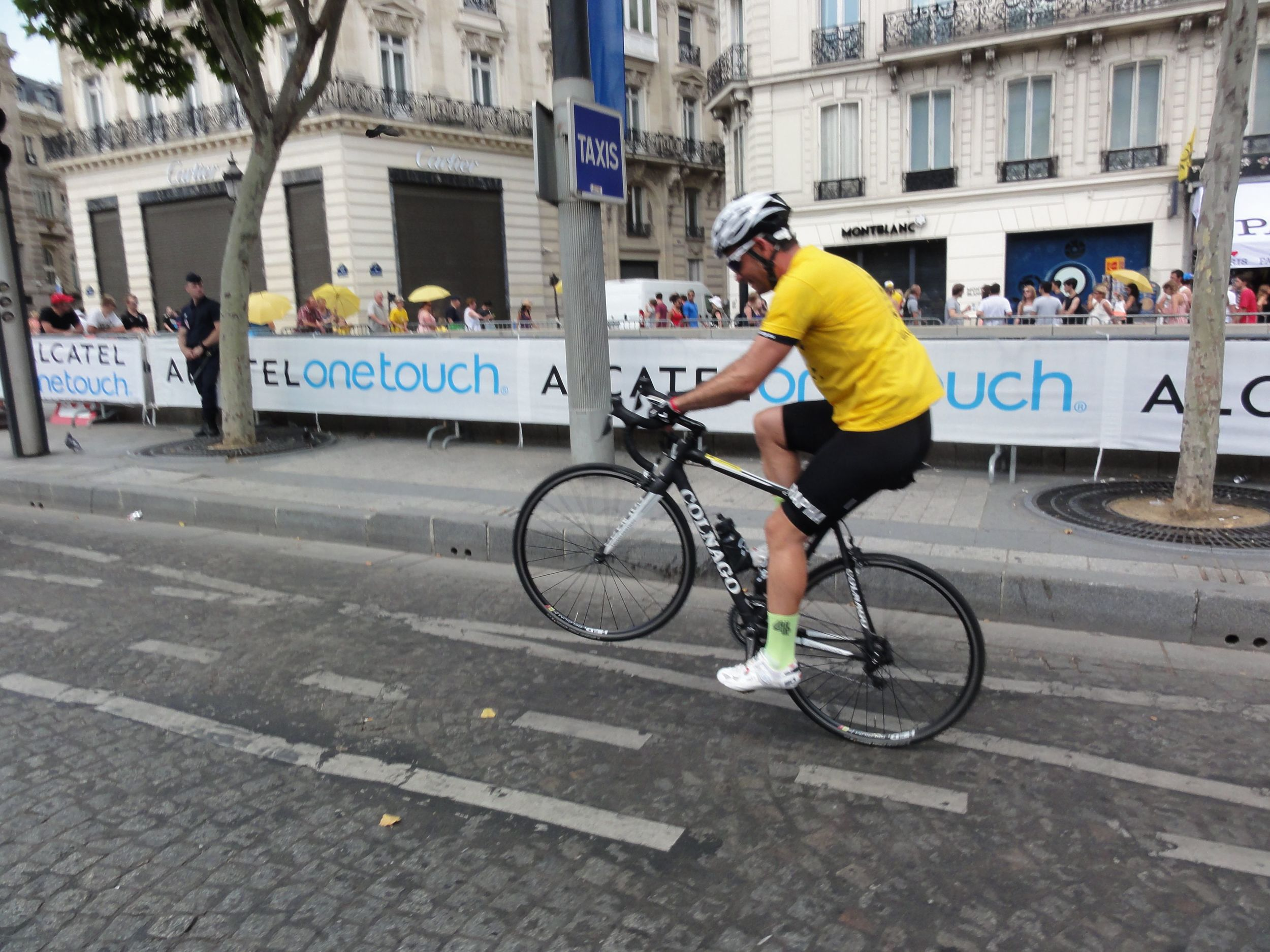 I had my Sagan moment on the Champs-Elysees and popped a wheelie while I had the chance!