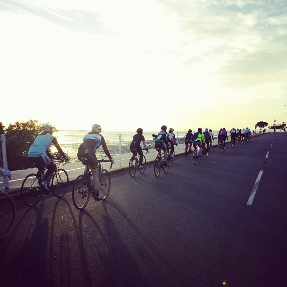 A beautiful sunrise greeted the women at the Bay