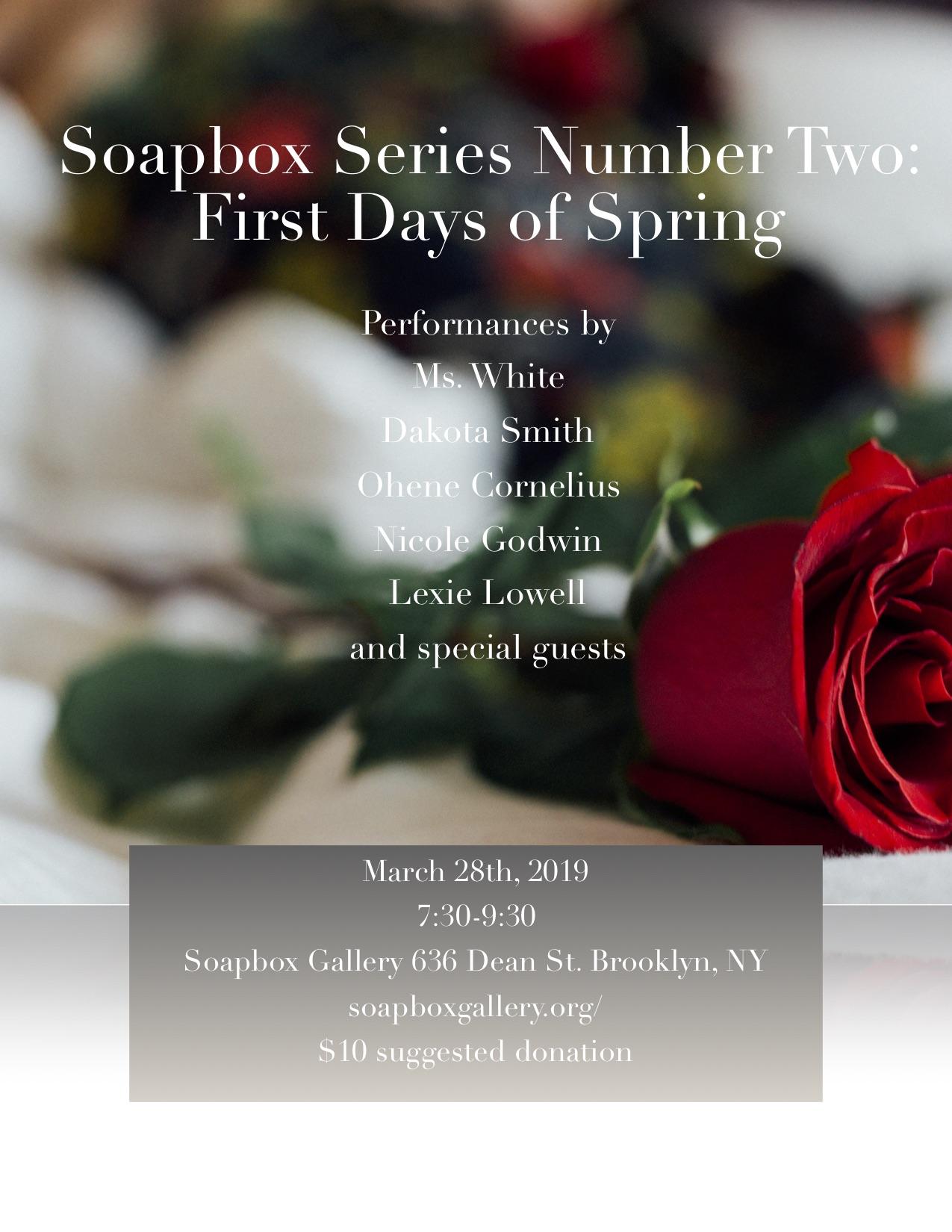 Soapbox Gallery - March 28 2019Brooklyn