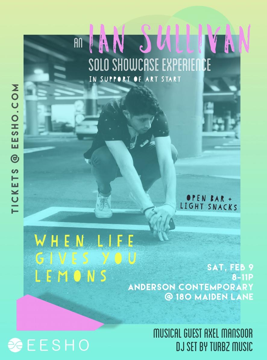 Eesho: ian sullivan solo showcase - February 9 2019Anderson Contemporary, NYC