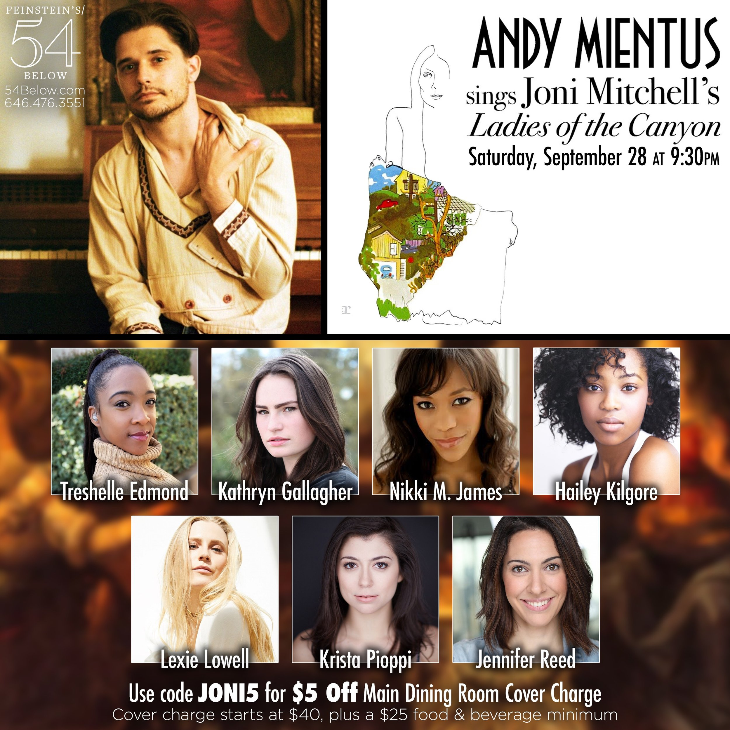 54below - Andy Mientus sings Joni Mitchell's Ladies of the Canyon with Special Guests
