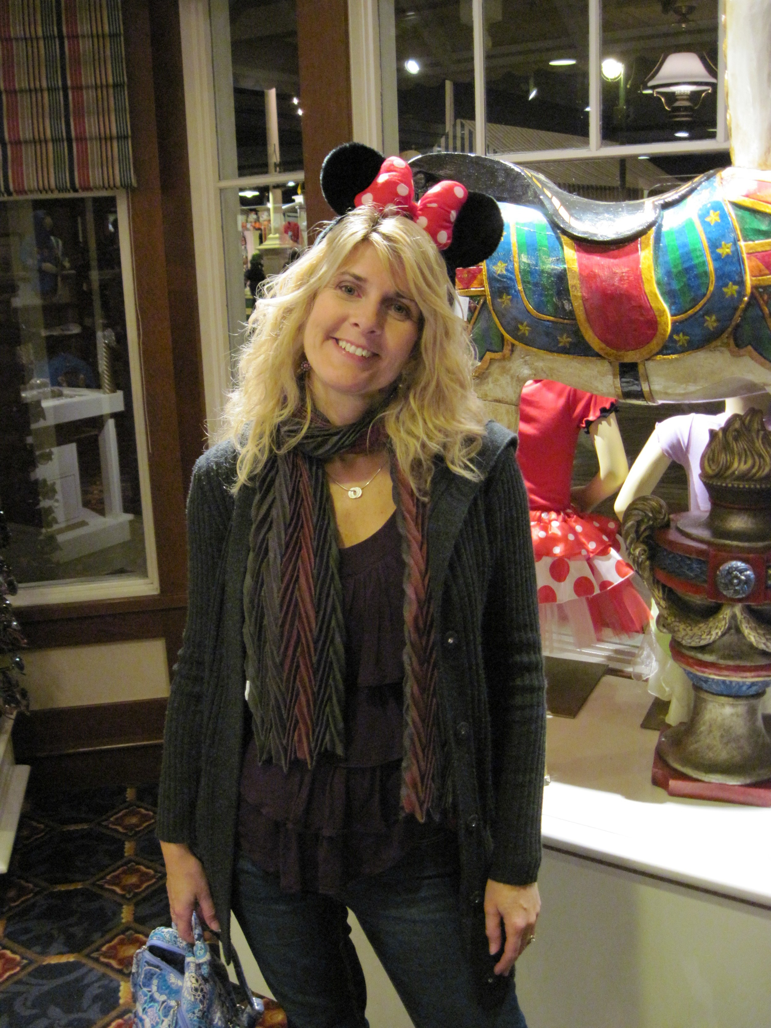 Me: I want Minnie ears. My husband: You already have two – that's plenty.