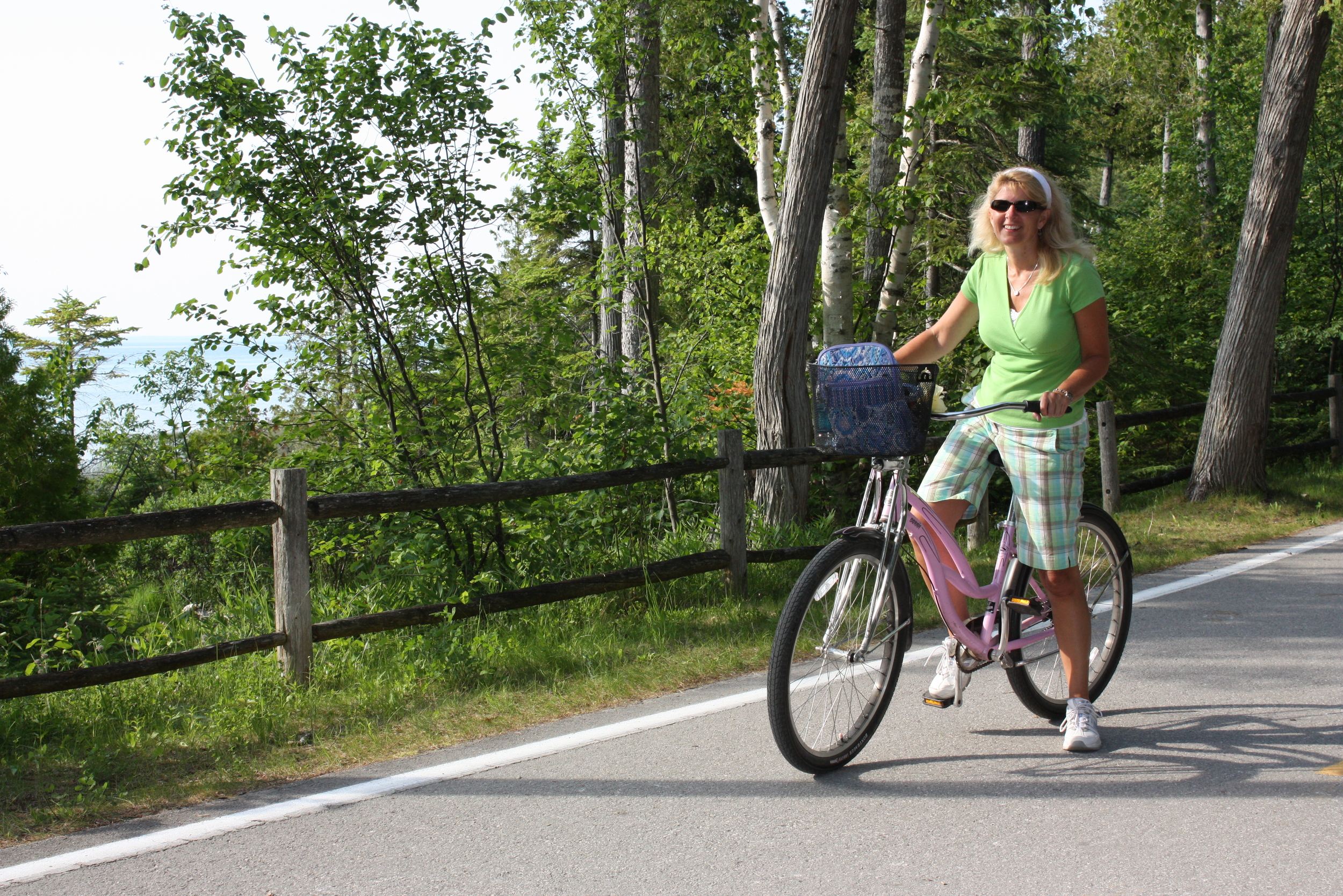 Toni biked 20 miles in one day on her super cool pink bike that came complete with a flower on the handlebars