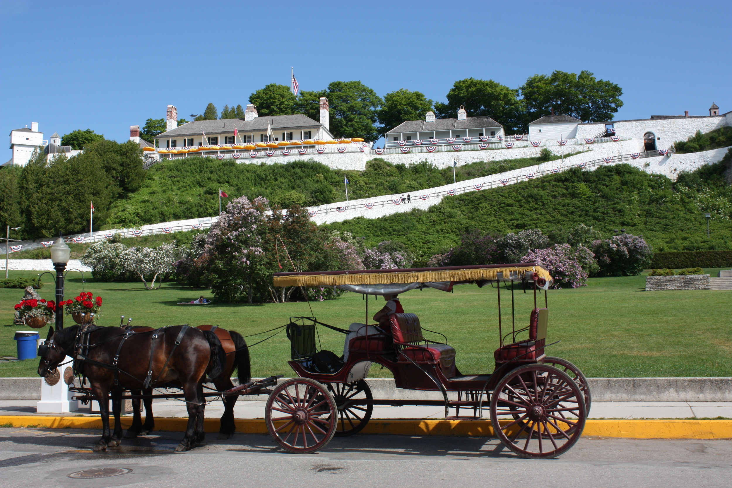 Historic Fort Mackinac (the first battle of the War of 1812 took place here, by the way.)