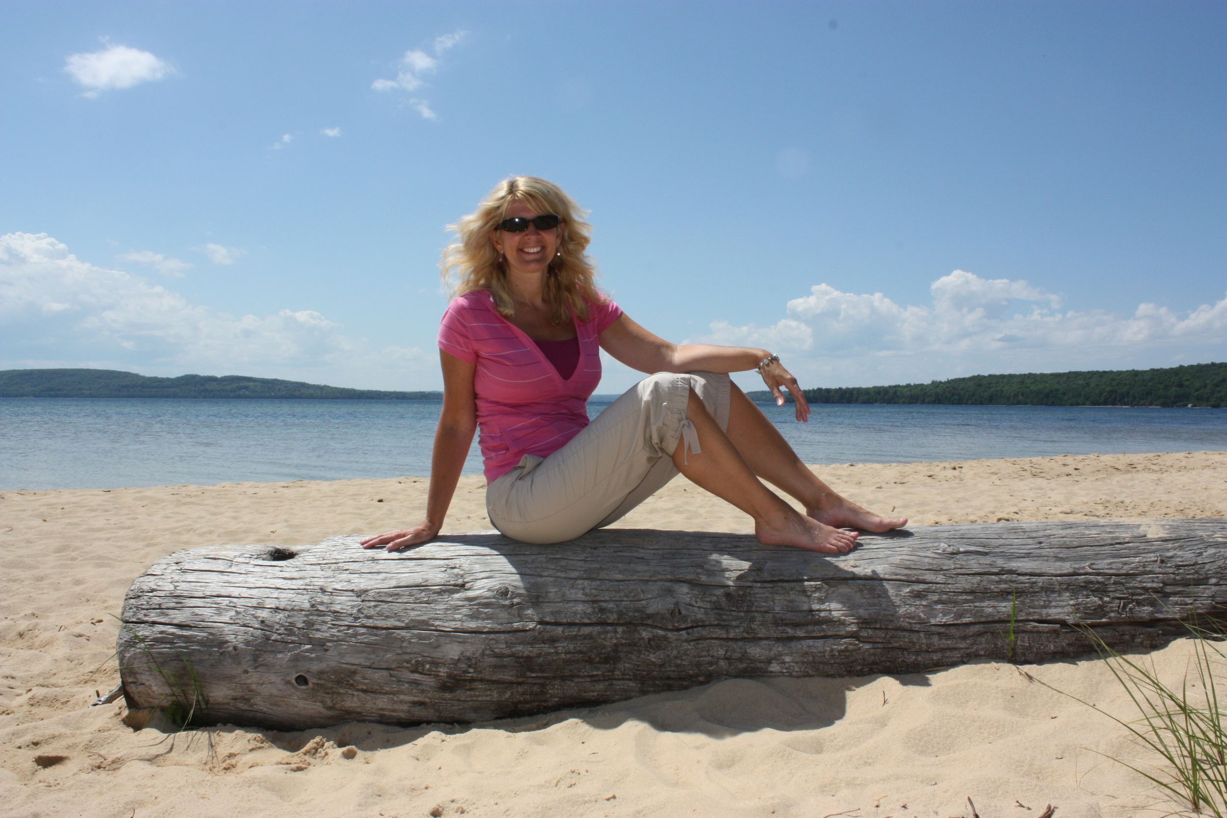 At Sand Point in the Pictured Rocks park on Lake Superior