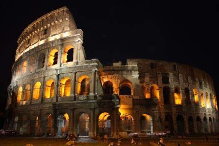 The Colesseum at night is stunning.