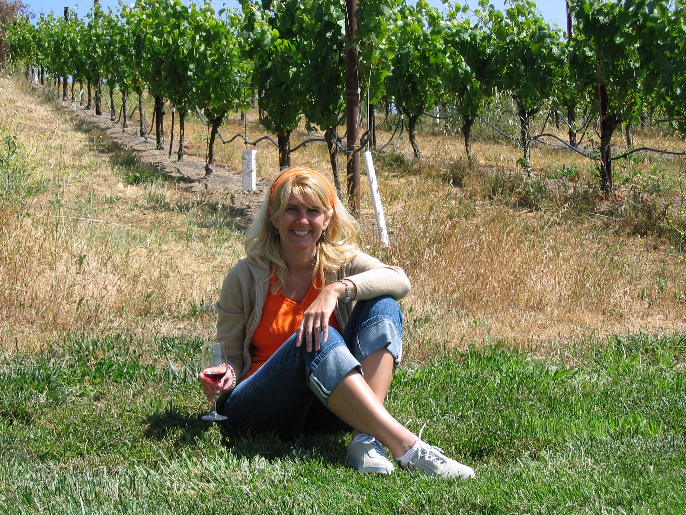 In the Sonoma wine country.