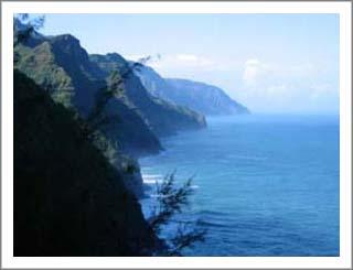 Kauai's rugged Napali coast.