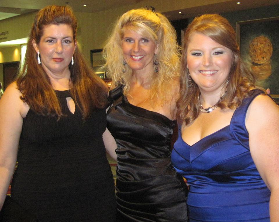 Toni celebrating at RWA Awards night with author Julie Anne Long and Samhain Publishing's Lindsey Faber
