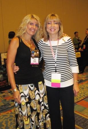 Toni with longtime author friend Teresa Medeiros.