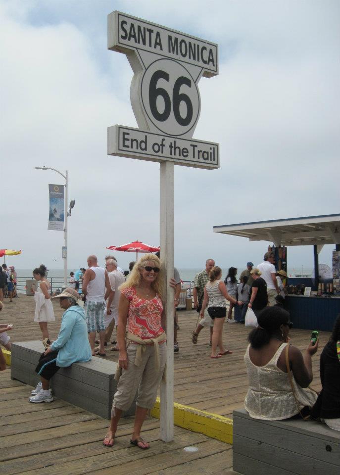 Route 66 ends at Santa Monica Pier