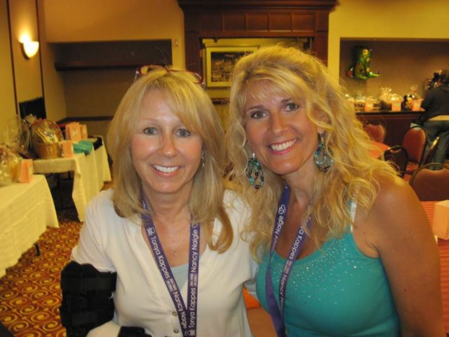 Toni with Lori Foster