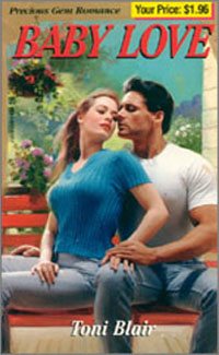 The original 1998 cover of  The Guy Next Door , when it was published under the title  Baby Love .