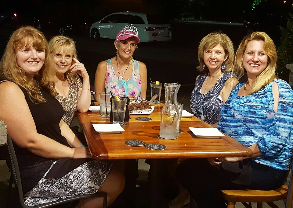 A really wonderful dinner with dear friends to celebrate the end of radiation.