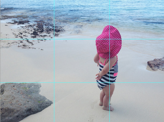 Subject lies at an intersection of two segments | Rule of Thirds | 5 Tips for Better Phone Images