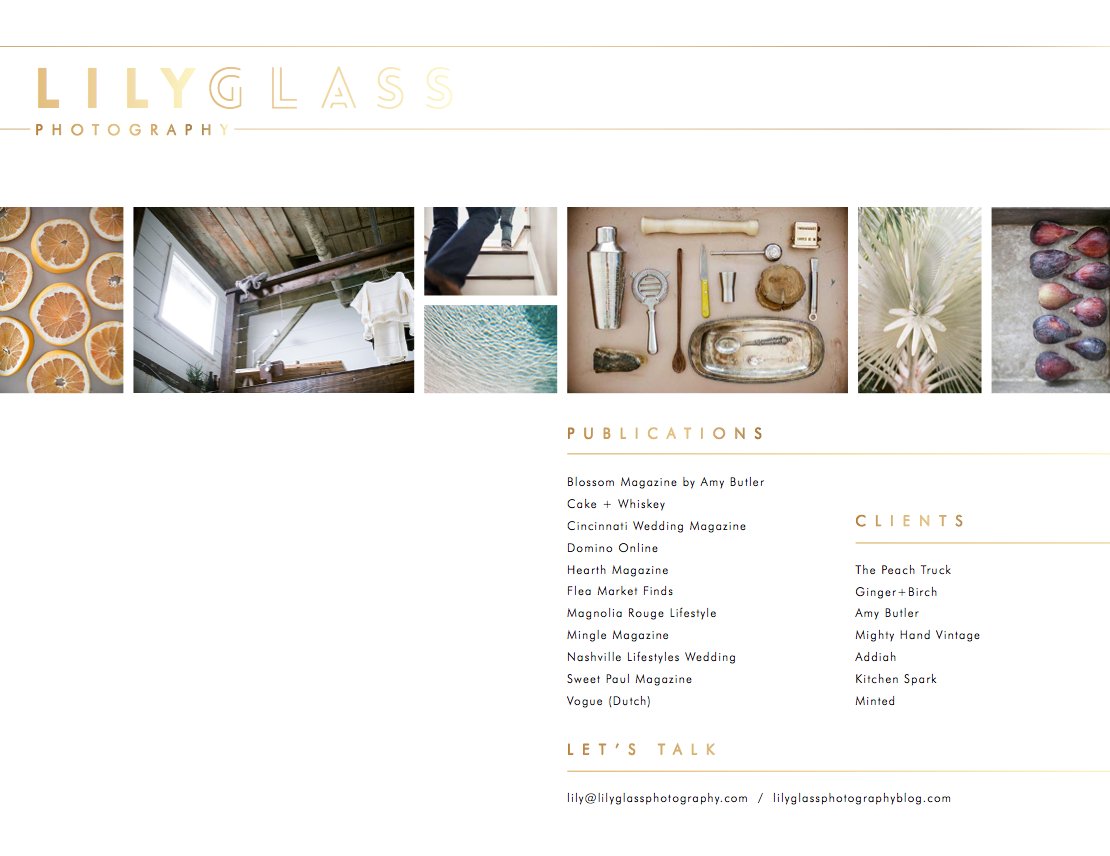 lily glass lookbook by Ginger + Birch