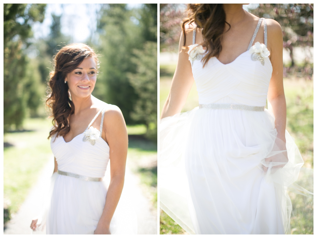 this dress right?! So fancy and so flattering. Megan worked with R+M Designs to customize her gown.