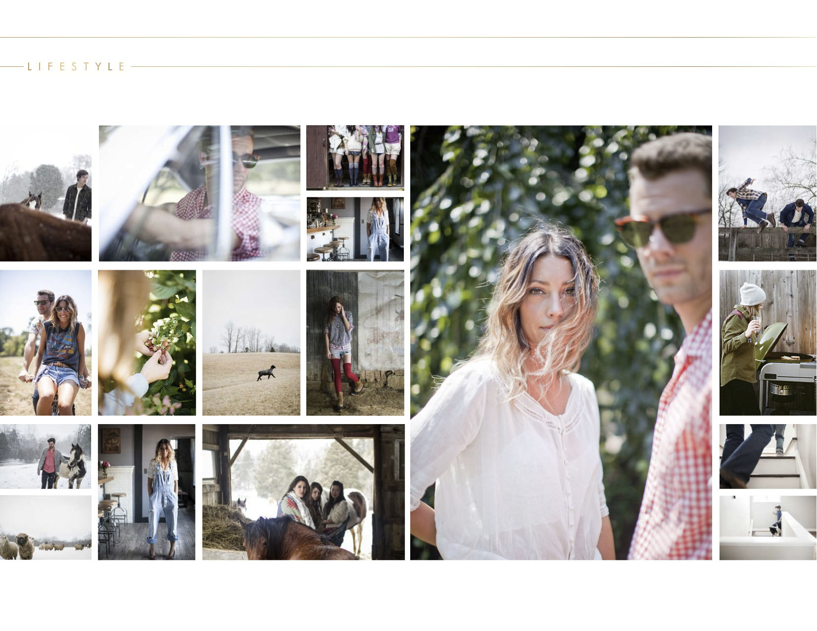 lily glass photography lookbook design by  Ginger & Birch