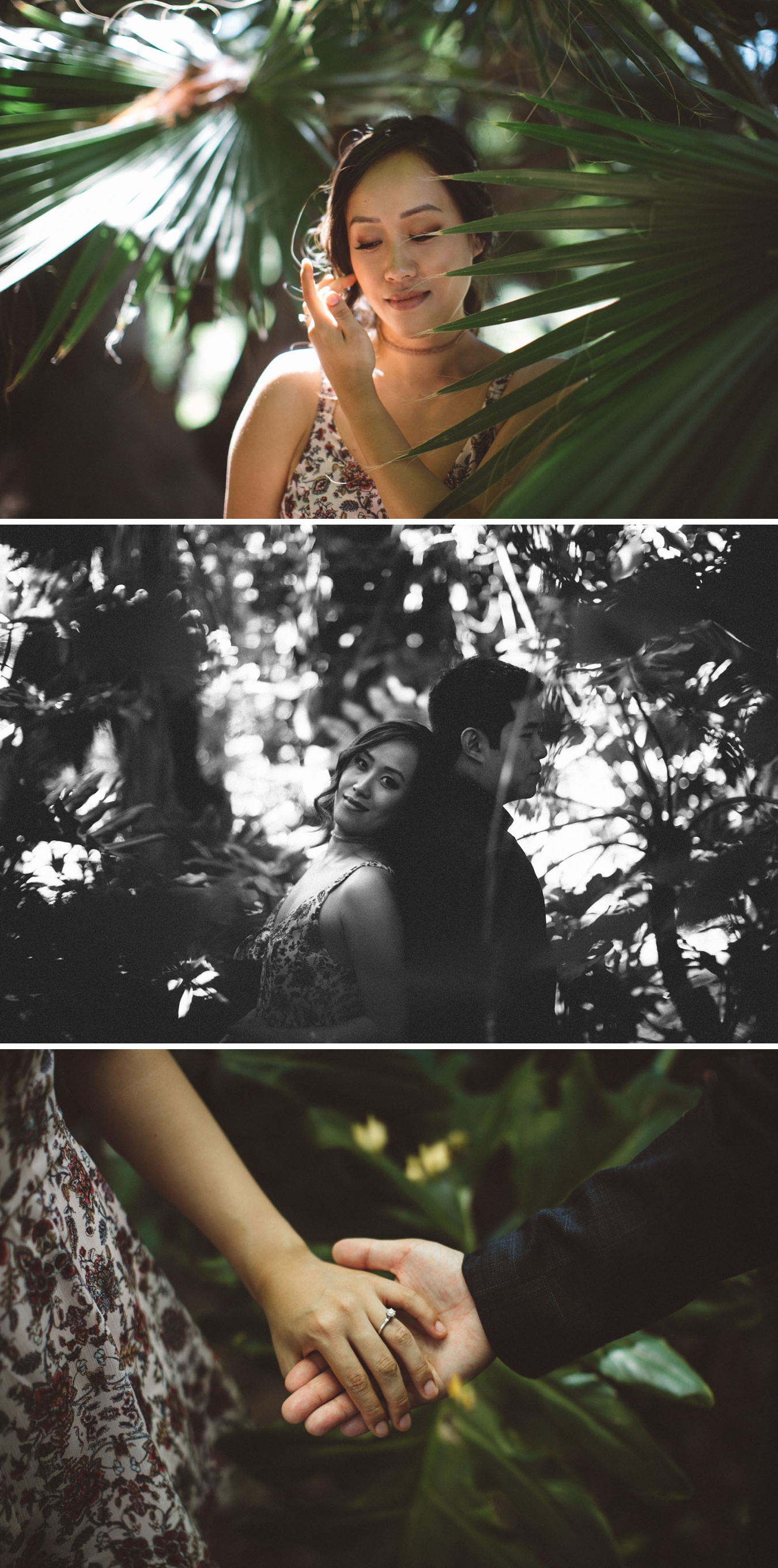 los angeles arboretum engagement session