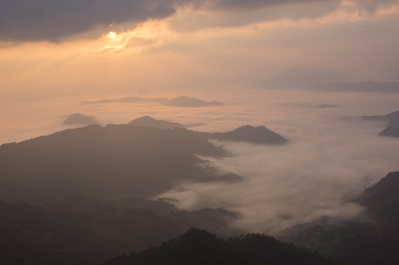 Viewpoint, the sea of mist.