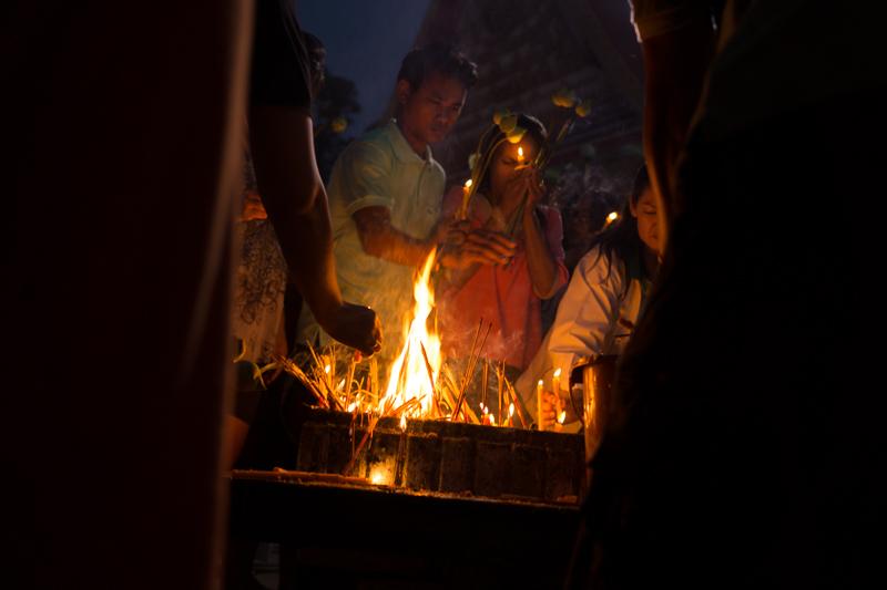 Magha Puja celebration in Bangkok, 2013.