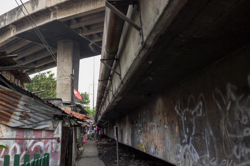 Slum area.