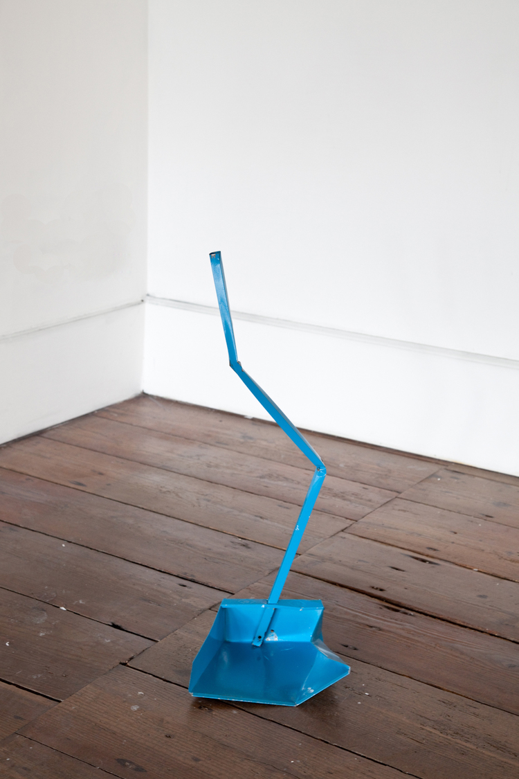 Dylan Lynch  Untitled (Crushed Dustpan)  2012  Steel, enamel paint  30 x 16 x 12 inches