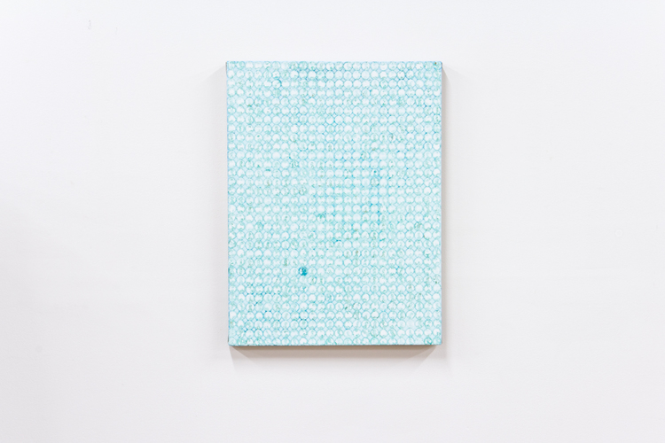 Nick Darmstaedter  Cindy Crawford  2012  Oxidized copper on canvas  24 x 18 inches