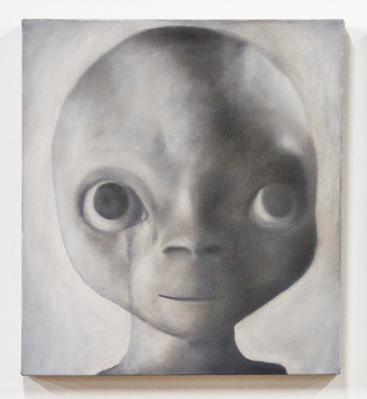 Louis Eisner  All The Things I Know But I'm Not At The Moment Thinking (The Truth is Out There)  2012  Oil on linen  20 x 18 inches