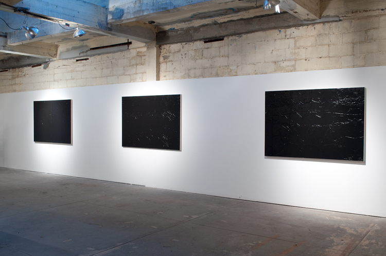 Andrew Sutherland  Untitled (Garbage Bags)  2011  Acrylic on canvas  70 x 48 inches each