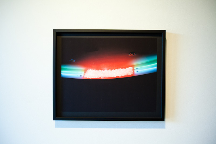 Zachary Susskind  Wet Light  2011  Water on inkjet print  25 x 20 inches