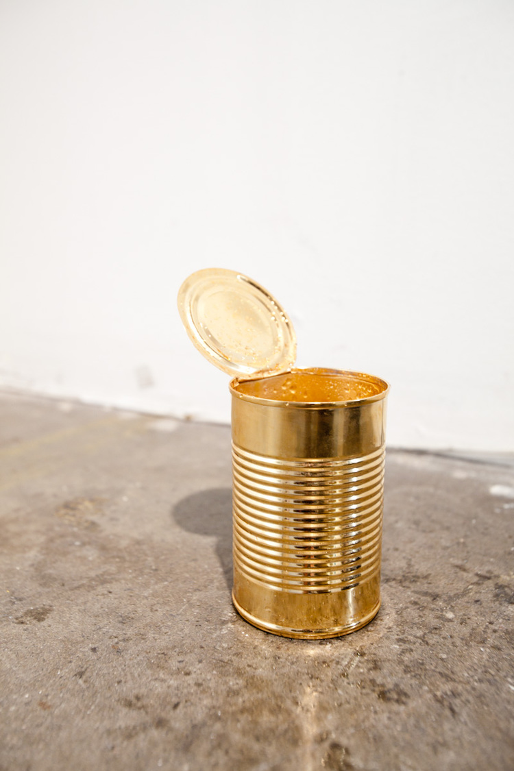 Isaac Brest  Don't Worry, It's Gold  2011  Gold plated steel and water drip  Variable