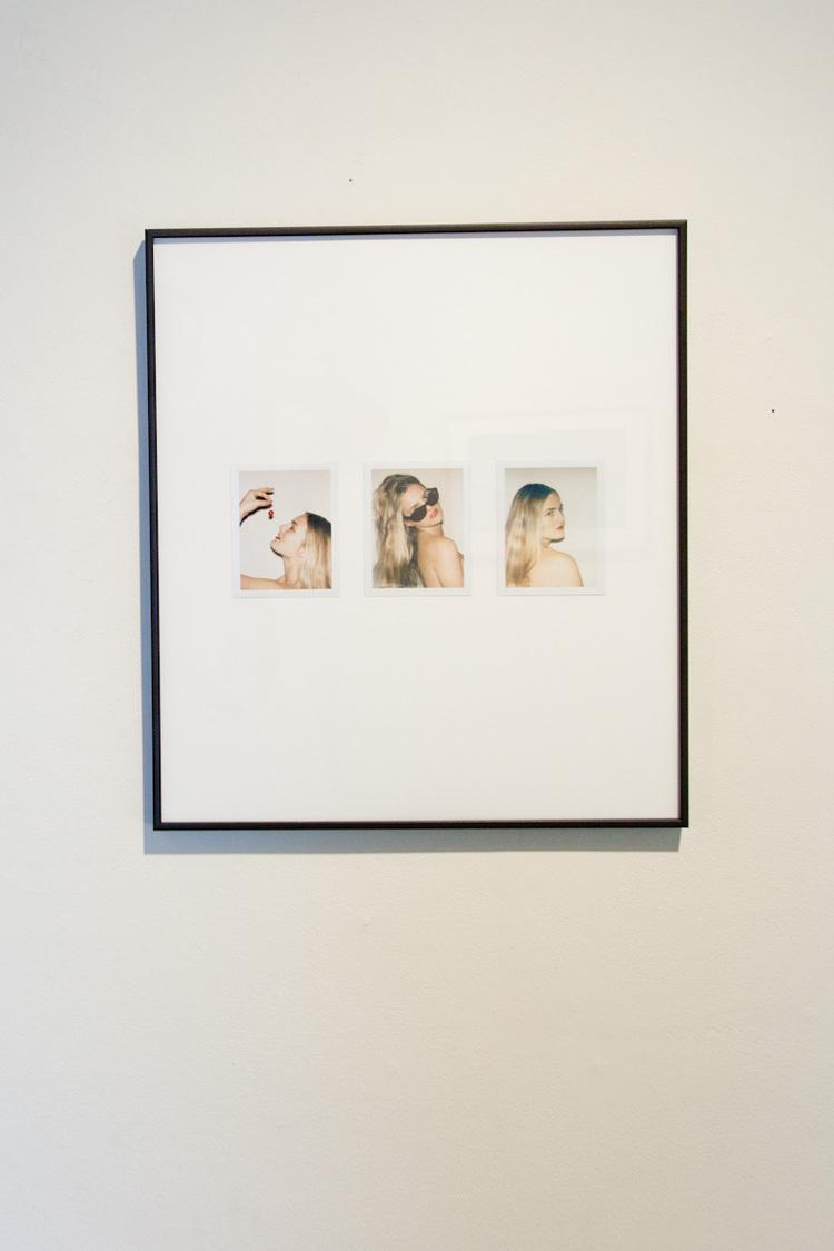Gia Coppola  Triptych of Nathalie  2011  Polaroid collage  16.5 x 19 inches