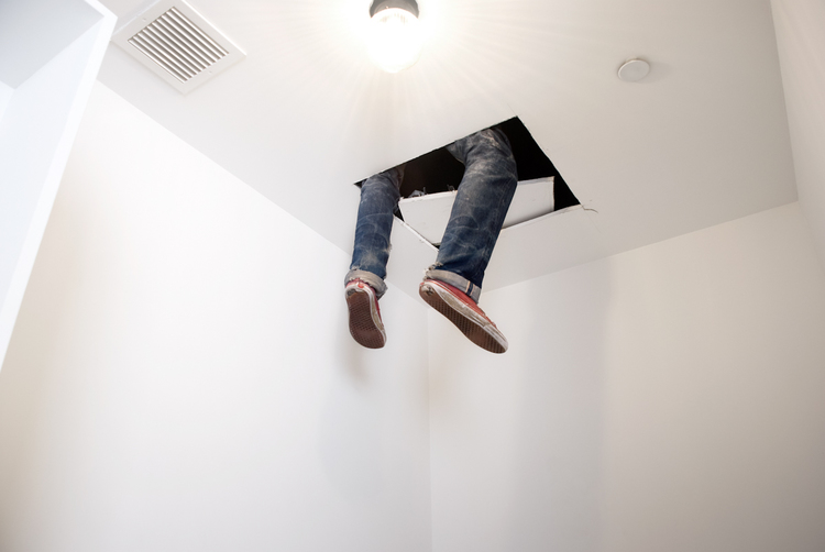 Dylan Lynch  Hangin Out  2010  Artist's clothing and dry wall  Dimensions variable