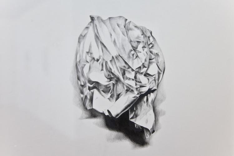 Little Sculpture 2012 (Detail) Pencil on paper 20 x 16 inches