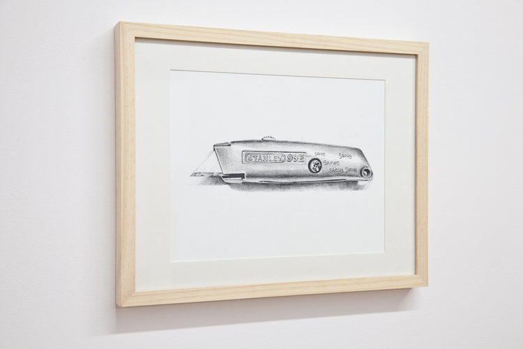 Objects at Work: Stanley Exacto Knife  2012  Pencil on paper  11 x 14 inches