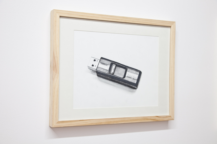 Objects at Work: SanDisk Jump Drive  2012  Pencil on paper  11 x 14 inches