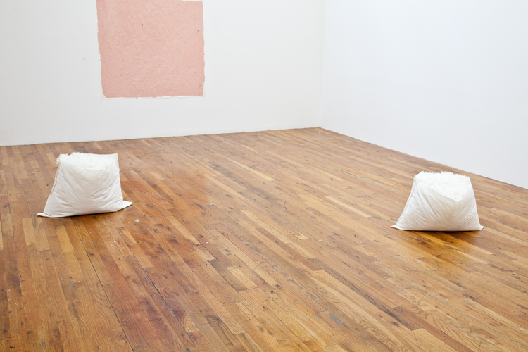 Pillow Talk #1 / Pillow Talk #2  2012  Cotton, duck feathers  Dimensions variable