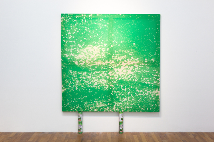 Nice Cocos  2011  Bleached Cotton  60 x 60 inches