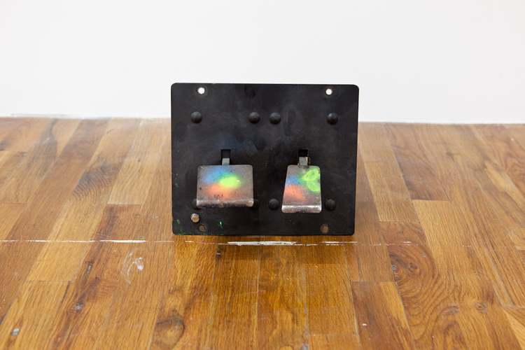 Lead Foot  2011  Enamel on arcade game pedals  10 x 10 x 8 inches
