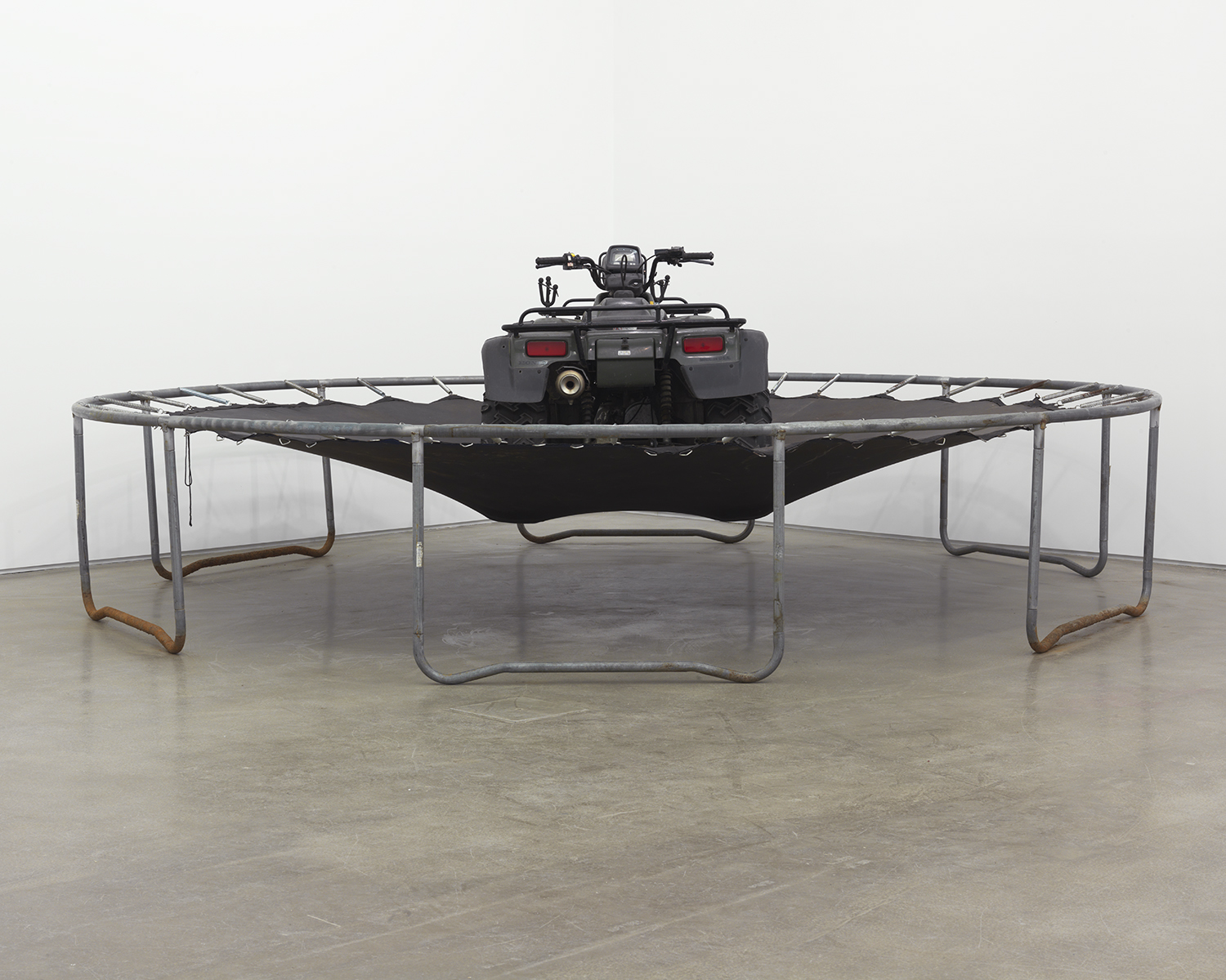 Grayson Revoir Why they hide under my garage 2013 ATV on trampoline Dimensions variable