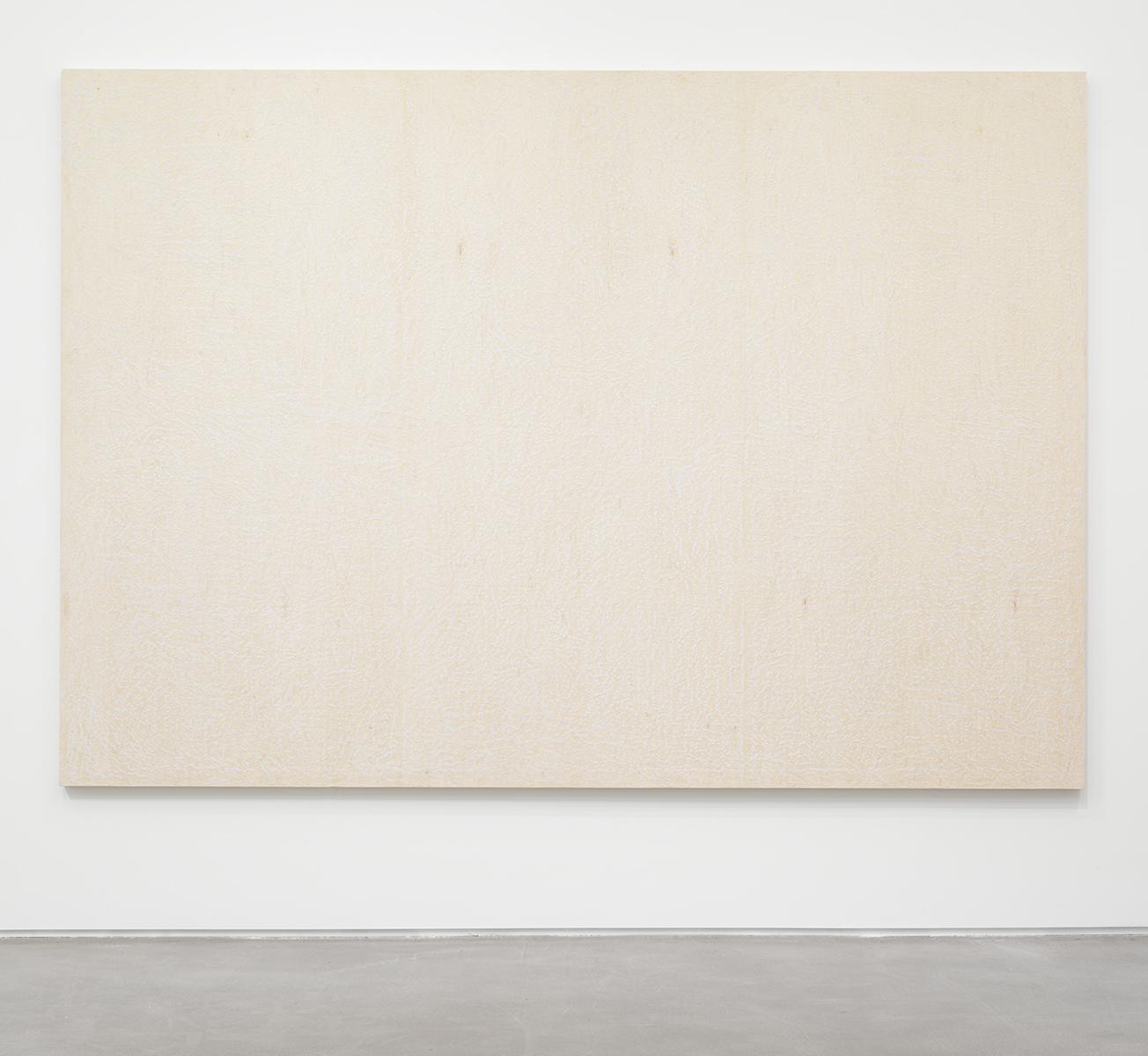 Brendan Lynch Da Bull 2013 Surf wax on wood panel 84 x 120 inches