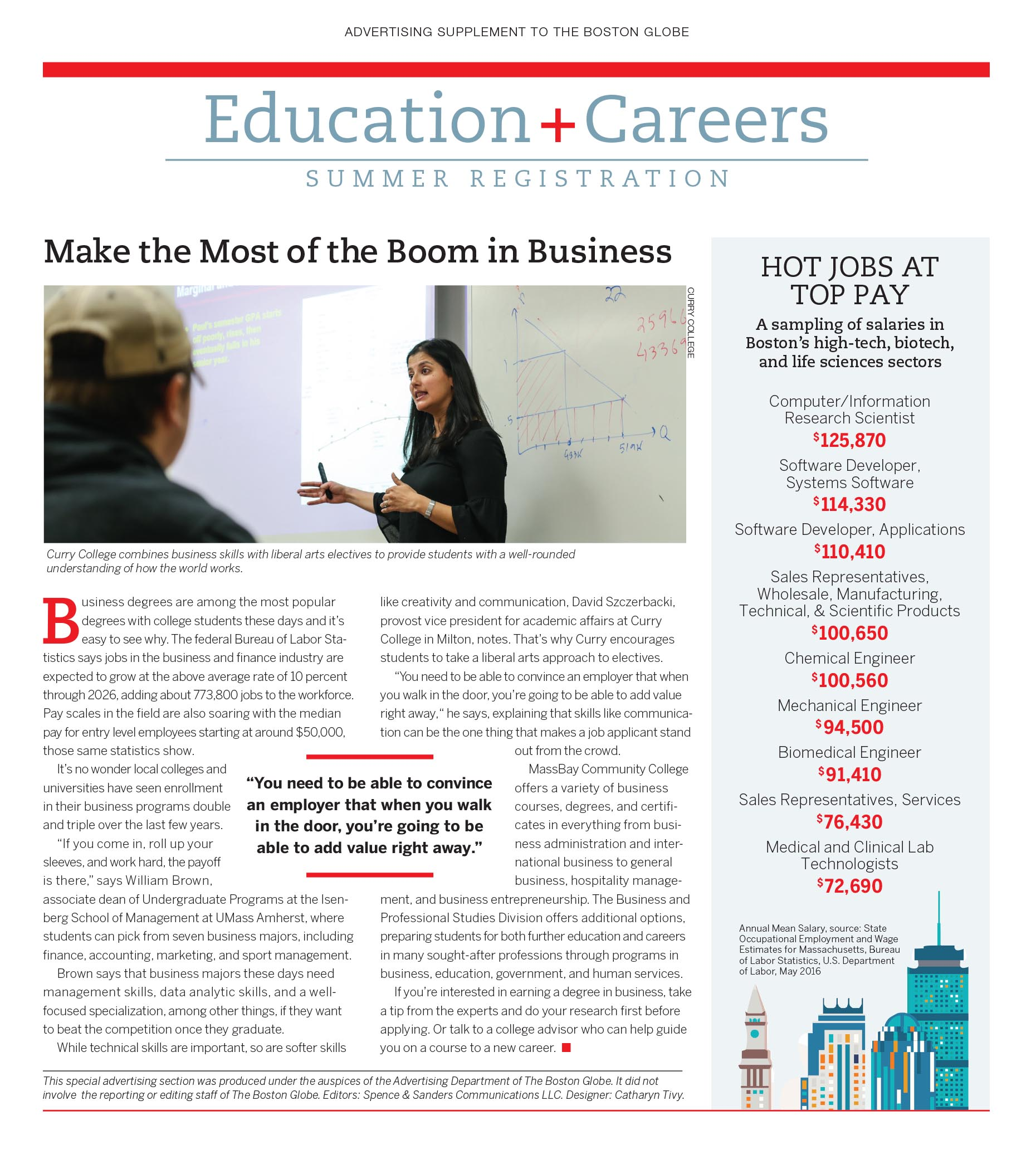 Education and Careers advertorial