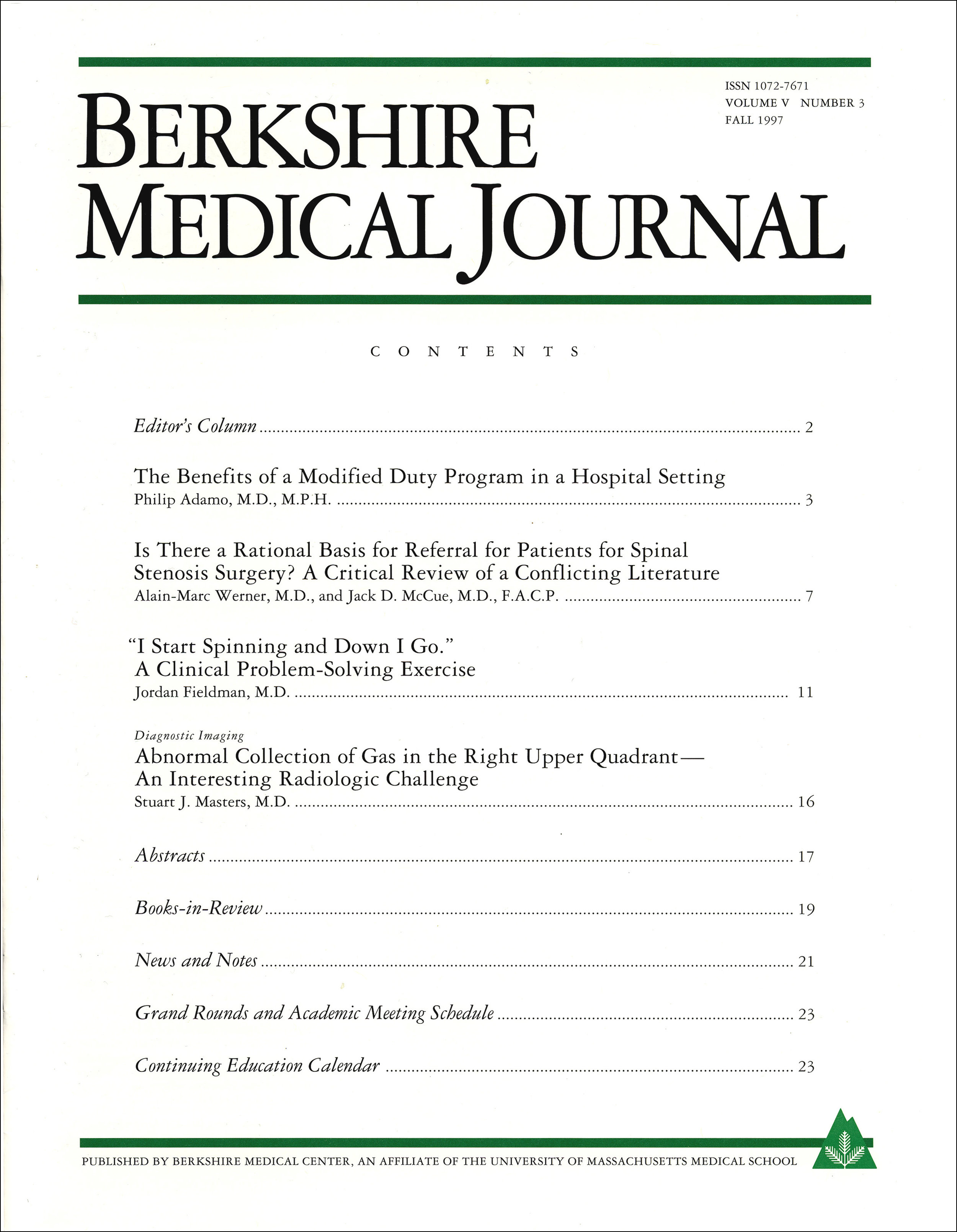 Berkshire Medical Journal