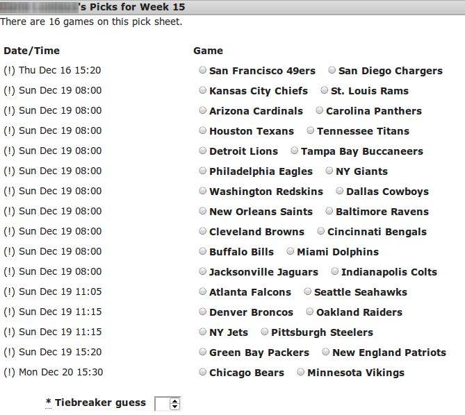 graphic about Nfl Pick Em Printable titled NFL Specifically Up Decide on Em PoolTrackers