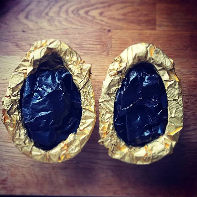 Happy Easter. Not received an egg for about 20 years. #hotelchocolat #gold #chocolate #easter #egg 🐣
