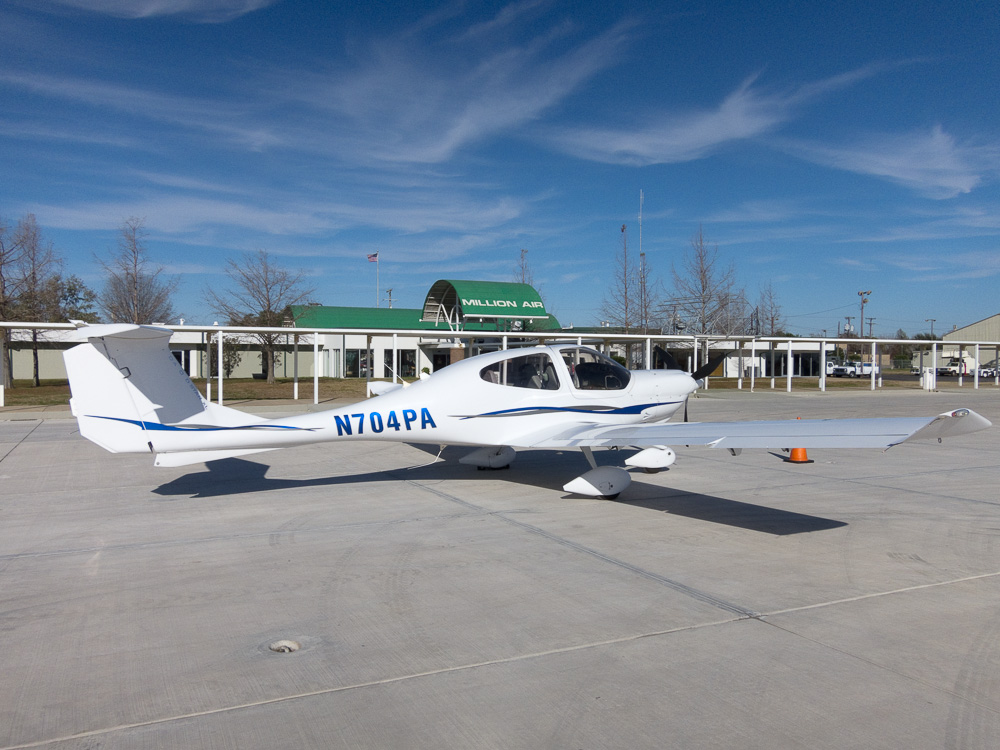 N704PA outside Million Air in Alexandria, LA. December 2012.